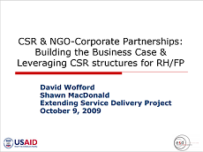 CSRandNGOCorporatePartnerships