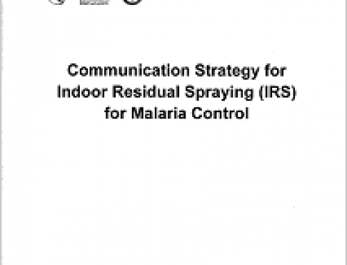Communication Strategy for Indoor Residual Spraying (IRS) for Malaria Control