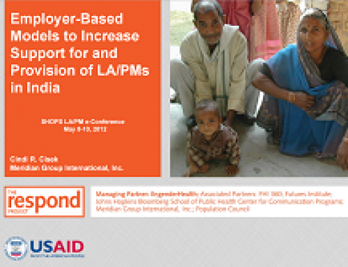 Employer-Based Models to Increase Support for and Provision of LA/PMs in India