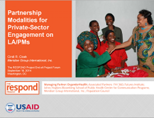 Partnership Modalities for Private-Sector Engagement on LA/PMs