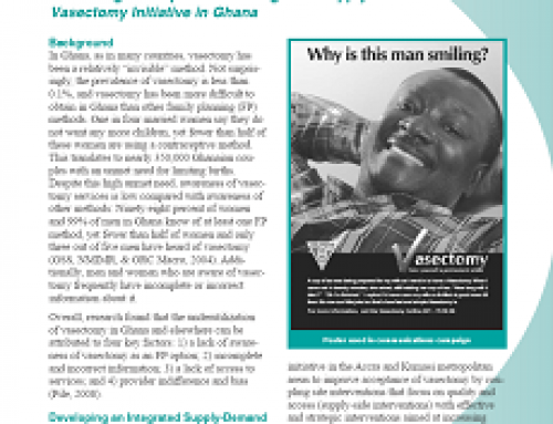 Revitalizing Underutilized Family Planning Methods Assessing the Impact of an Integrated Supply-Demand Vasectomy Initiative in Ghana